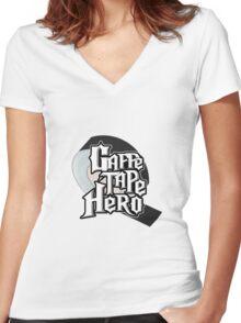 Gaffe Tape Hero Women's Fitted V-Neck T-Shirt