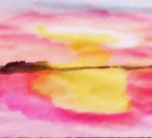 Early morning glory!  watercolor by Anna  Lewis