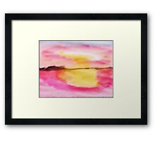 Early morning glory!  watercolor Framed Print