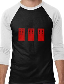 666 Dominos - Red Men's Baseball ¾ T-Shirt