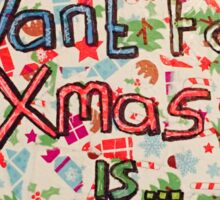Christmas lyric collage Sticker