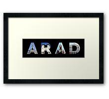 arad text Framed Print