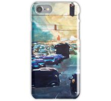 City traffic on a summer evening iPhone Case/Skin