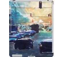 City traffic on a summer evening iPad Case/Skin