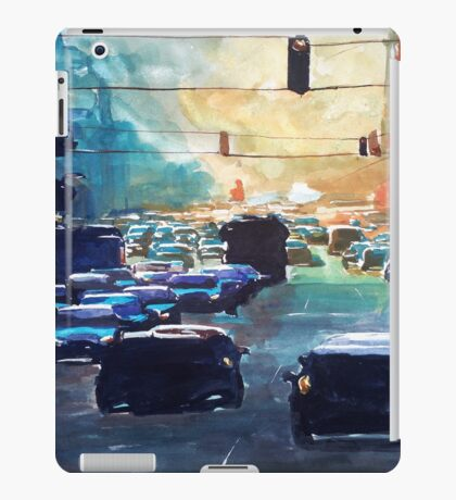 City traffic on a summer evening iPad Case/Skin
