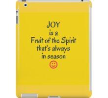 Joy in all season iPad Case/Skin