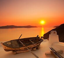 Thira Sunset by Paul Thompson Photography