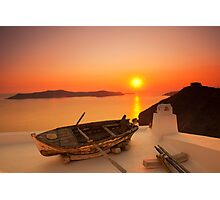 Thira Sunset Photographic Print