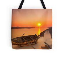 Thira Sunset Tote Bag