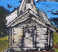Dilapidated White Church  by Jewel  Charsley