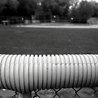 Outfield Fence by Robert Noll