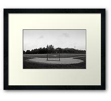 Baseball Net Framed Print