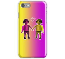 friends - pink - yellow iPhone Case/Skin