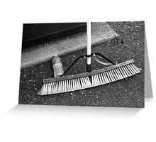 Broom and Water Bottle Greeting Card