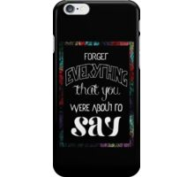 The Hoodie Song iPhone Case/Skin