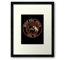 United Vinyl Jockeys Framed Print