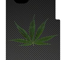 Carbon Fiber iPhone Case - marijuana leaf by kalitarios