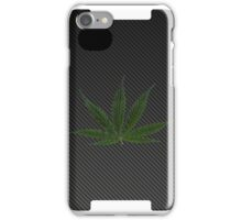 Carbon Fiber iPhone Case - marijuana leaf iPhone Case/Skin
