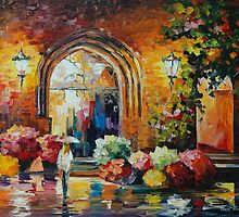GALLERY IN THE OLD CITY - LEONID AFREMOV by Leonid  Afremov