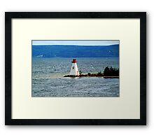 Lighthouse at Baddeck, Bras d'Or Lake, NS Framed Print