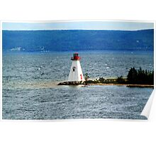Lighthouse at Baddeck, Bras d'Or Lake, NS Poster