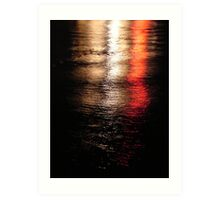 Lights on the Water  Art Print