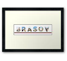 brasov text Framed Print