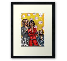 Hannibal - Alana and the Verger twins Framed Print