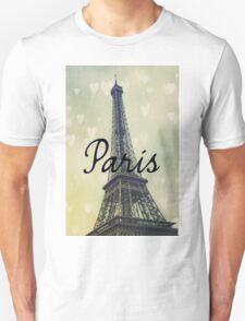 Paris Typography Eiffel Tower Unisex T-Shirt
