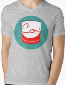 Cow Gum Mens V-Neck T-Shirt