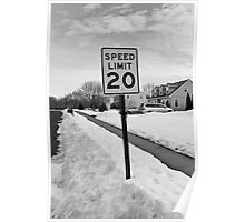 Speed Limit Sign Poster