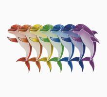 Rainbow Dolphins by gleekgirl