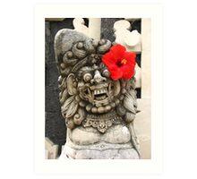 Balinese Hindu sculpture in Ubud Art Print