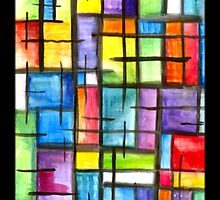 iphone case - watercolour abstract by MelDavies