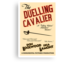 "Singin' in the Rain - ""The Duelling Cavalier"" Canvas Print"
