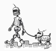 Walkin the Robot Dog by betsystreeter