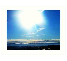 Sun Cloud Hills Art Print