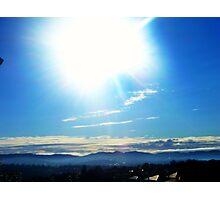 Sun Cloud Hills Photographic Print