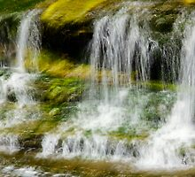 Green waterfalls - Almonte Ontario by Josef Pittner