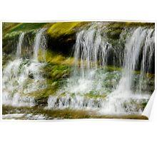 Green waterfalls - Almonte Ontario Poster