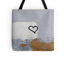 Heart painted on the wall Tote Bag