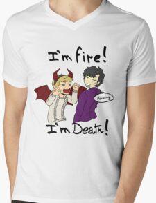 Sherlock and John Mens V-Neck T-Shirt