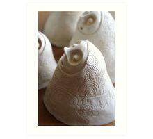 White stoneware 'Little breath' Art Print