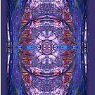 iphone case - textured blue by MelDavies
