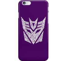 Transformers Decepticons White iPhone Case/Skin