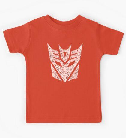 Transformers Decepticons White Kids Tee