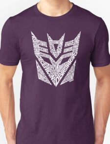 Transformers Decepticons White T-Shirt