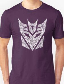 Transformers Decepticons White T-Shirt