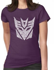Transformers Decepticons White Womens Fitted T-Shirt