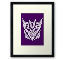 Transformers Decepticons White Framed Print